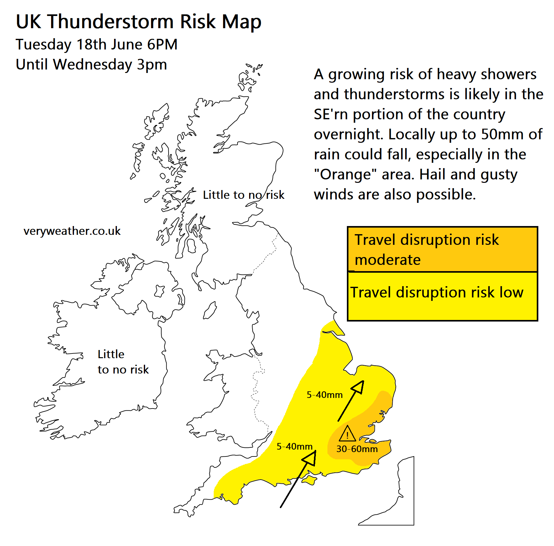 Big Map Of England.Live Updates As Big Thunderstorm Heads Into South East England